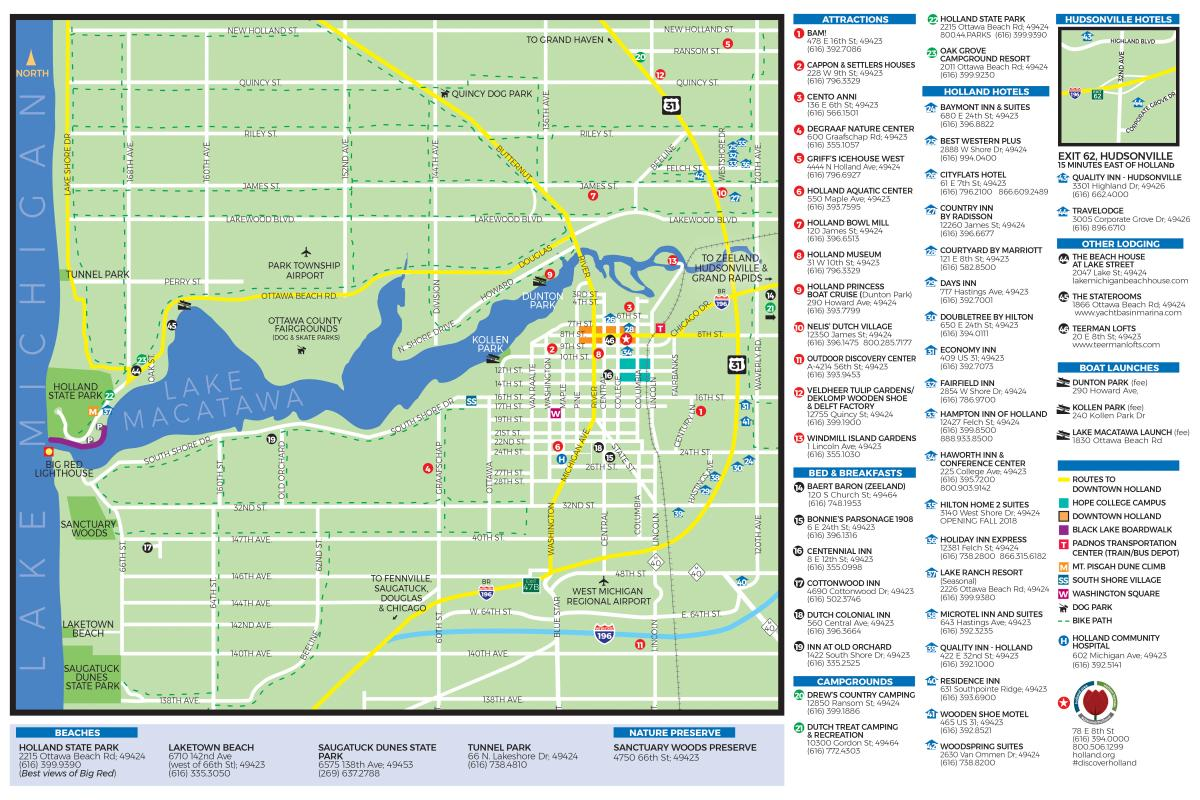 Getting Around Holland Michigan Maps Transportation And Directions