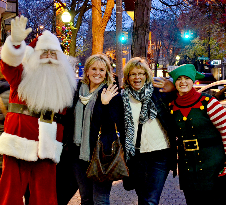 Holiday Open House in Downtown Holland, Michigan