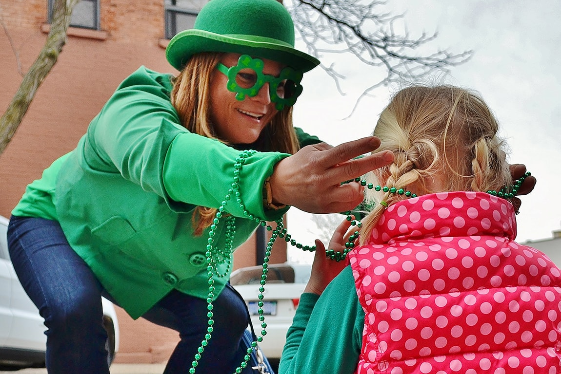 St. Patrick's Day Parade in Downtown Holland, Michigan