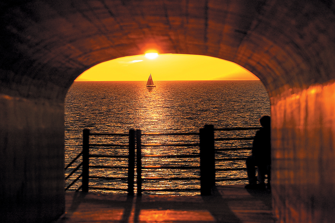 Tunnel Park and Beach in Holland, Michigan