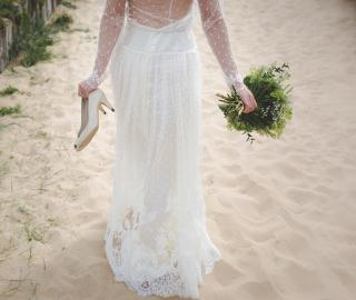 Wedding Holland Michigan Beach Sand