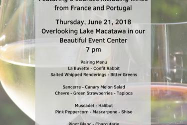 Boatwerks International Wine Pairing Dinner