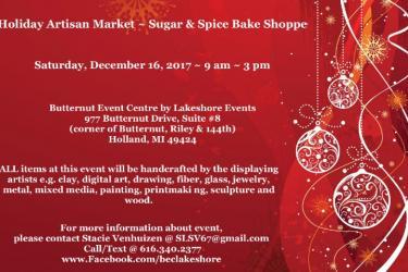 Holiday Artisan Market ~ Sugar & Spice Bake Shoppe