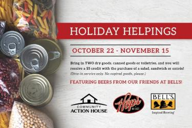 Holiday Helpings with the Community Action House and Bell's Brewery!
