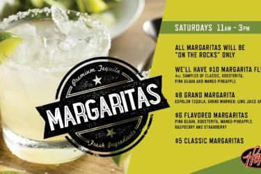 Margarita Saturdays at Hops!